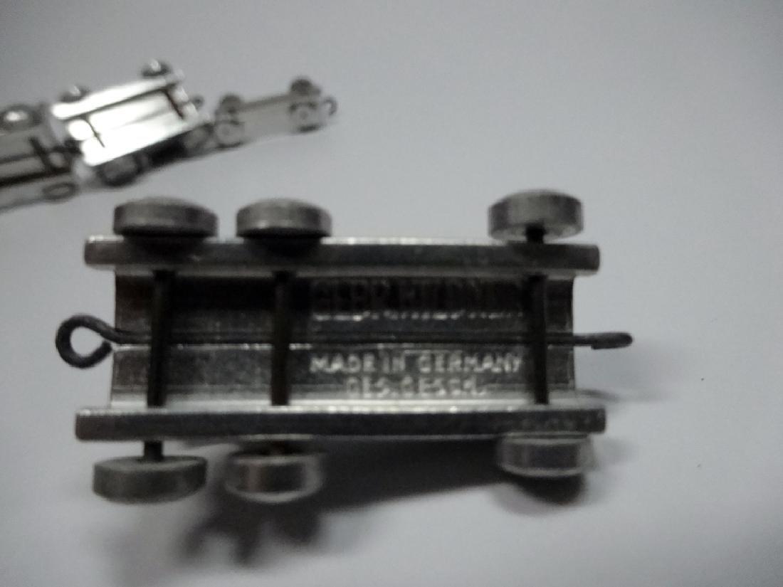 7 PC GEBR HILDNER MINIATURE TRAIN, ALUMINUM, MADE IN - 6