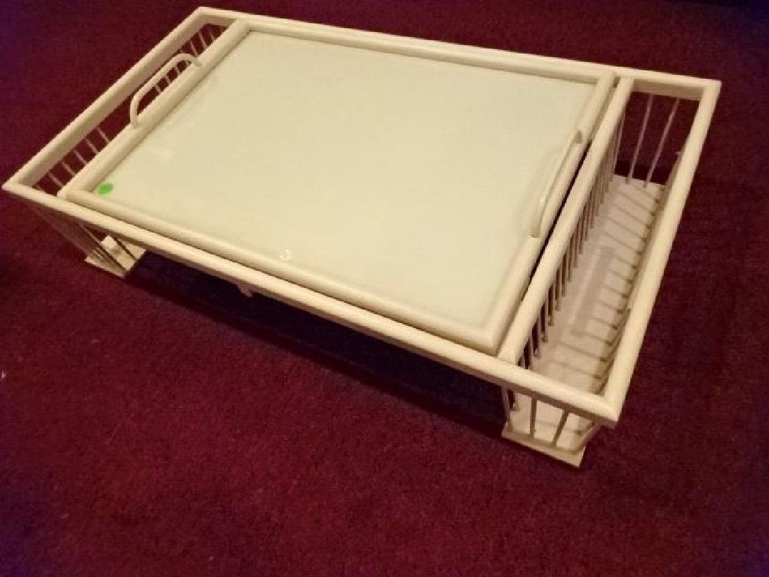 """WOOD BED TRAY, LIGHT FINISH, VERY GOOD CONDITION, 30"""" X"""