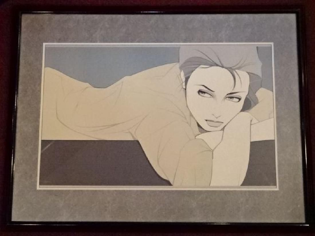 PATRICK NAGEL (1945-1984) COLOR LITHOGRAPH, RECLINING