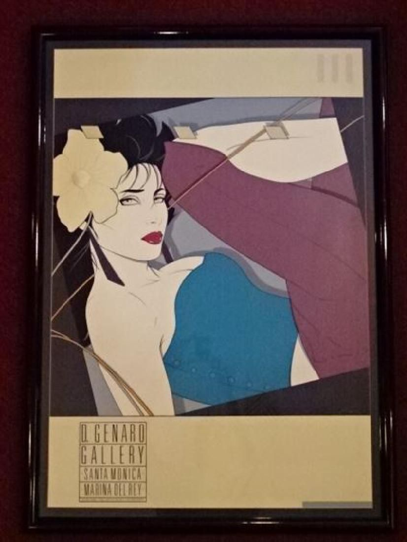 PATRICK NAGEL (1945-1984) COLOR LITHOGRAPH, WOMAN WITH