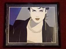 PATRICK NAGEL (1945-1984) COLOR LITHOGRAPH, WOMAN IN