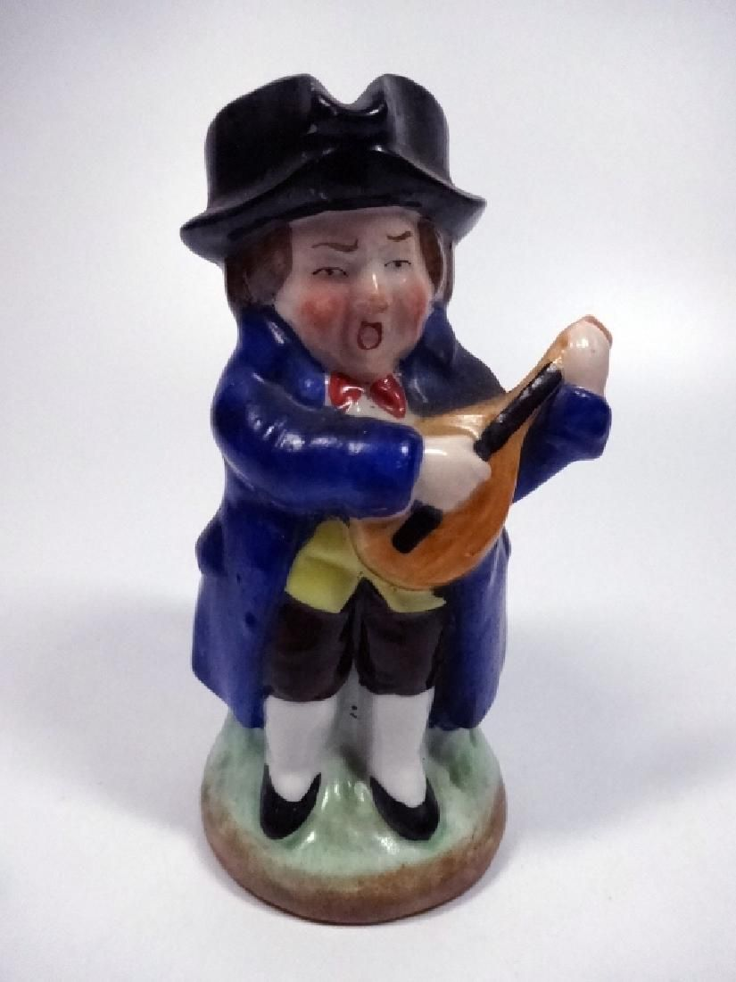 VINTAGE POTTERY TOBY JUG, MUSICIAN, CROWN MARK ON BASE,