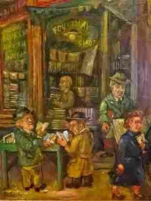 DAVID BURLIUK (RUSSIAN-UKRAINIAN 1882-1967) OIL ON CANV