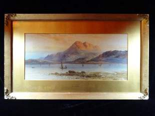 WILLIAM HENRY EARP SIGNED WATERCOLOR PAINTING,