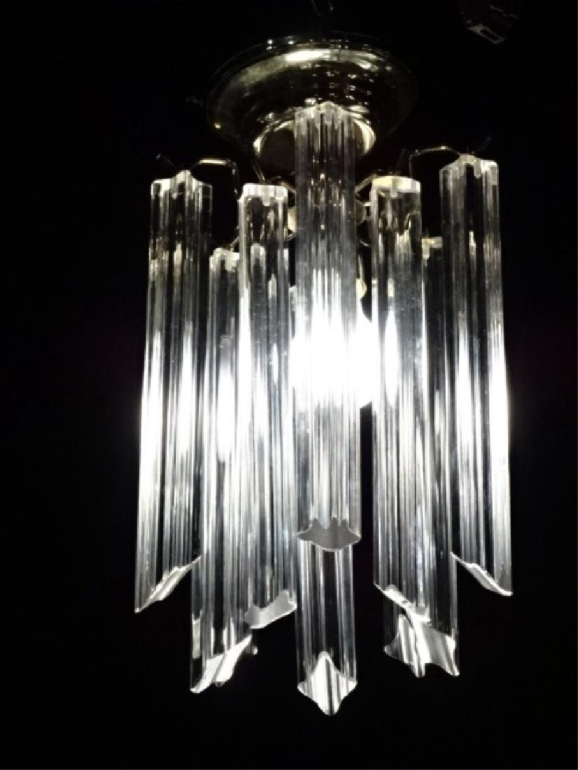 CENTURY LUCITE CHANDELIER SINGLE LIGHT WITH LUCITE