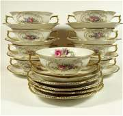 23 PC ROSENTHAL PORCELAIN SOUP BOWLS AND SAUCERS,