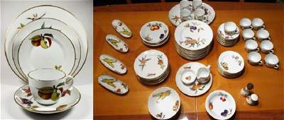 77 PC ROYAL WORCESTER EVESHAM CHINA SERVICE, INCLUDES