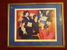 LINDA LE KINFF SERIGRAPH IN COLOR ON PAPER ACCORDS