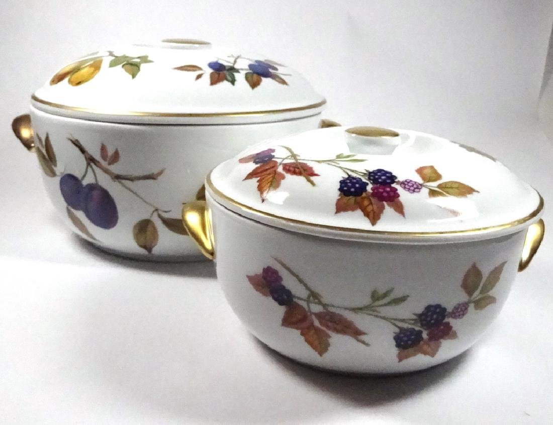 2 PC ROYAL WORCESTER EVESHAM ROUND BAKING DISHES WITH