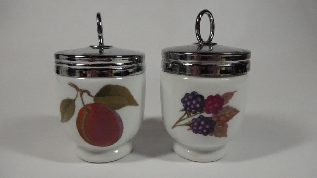 """2 PC ROYAL WORCESTER EVESHAM EGG CODDLERS, APPROX 3.5"""","""