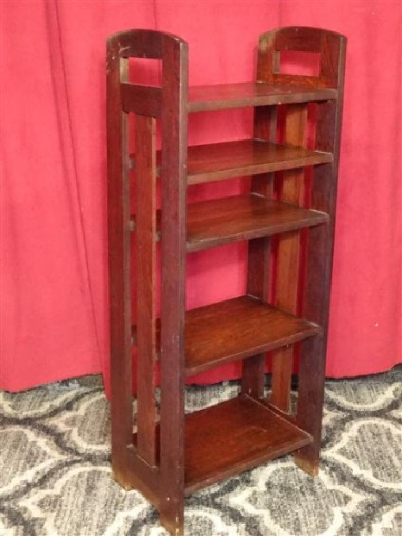 ARTS AND CRAFTS WOOD BOOKCASE, EARLY 20TH C., 5