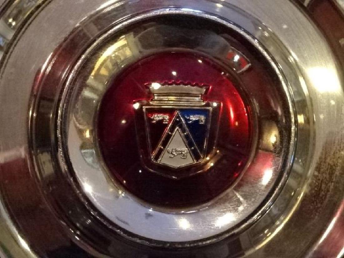 SET OF 4 FORD THUNDERBIRD HUBCAPS, 1955-56, VERY GOOD - 4