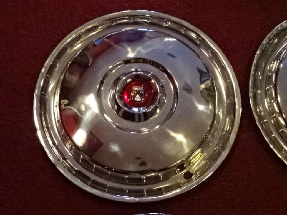 SET OF 4 FORD THUNDERBIRD HUBCAPS, 1955-56, VERY GOOD - 5