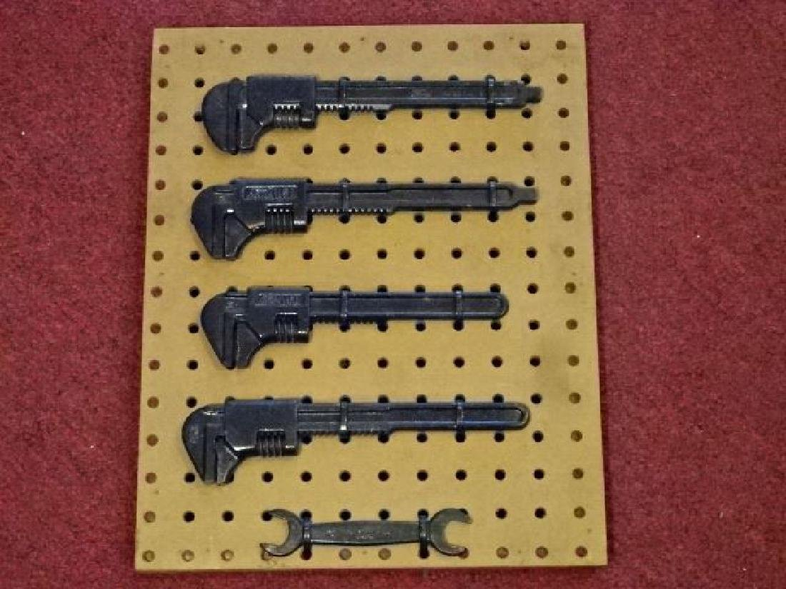 5 PC ANTIQUE FORD AUTO TOOLS, INCLUDES 4 ADJUSTABLE