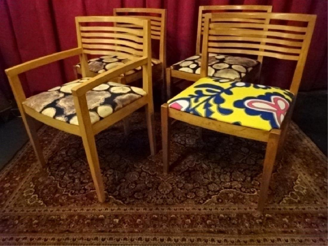 4 KNOLL STUDIO DINING CHAIRS, 1 ARMCHAIR, 3 SIDE