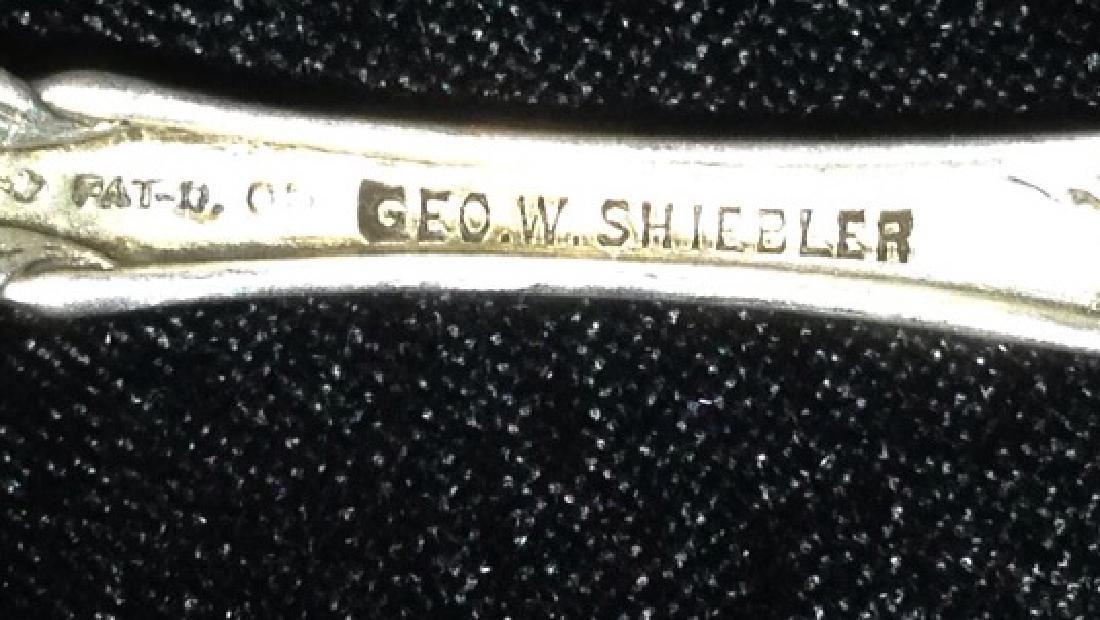 6 ANTIQUE GEO. W. SHIEBLER STERLING SILVER DEMITASSE - 8