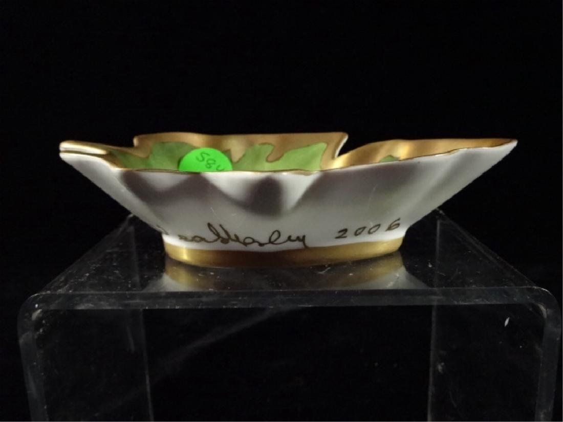 ANNA WEATHERLY PORCELAIN LEAF DISH WITH BUTTERFLY, HAND - 2