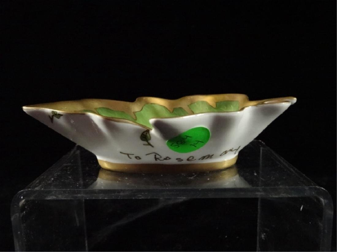 ANNA WEATHERLY PORCELAIN LEAF DISH WITH BUTTERFLY, HAND - 3
