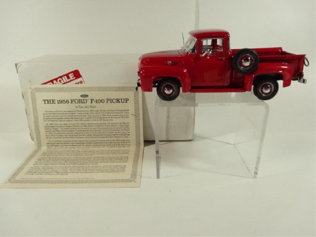 1956 FORD F100 PICKUP TRUCK, MINT CONDITION, BY DANBURY - 6