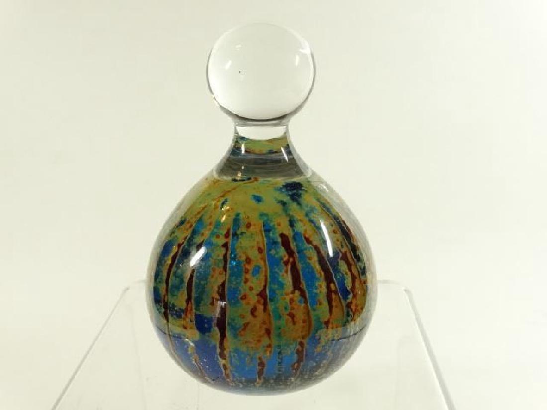 MDINA MALTESE ART GLASS PAPERWEIGHT, BLUE, GREEN, CLEAR - 2