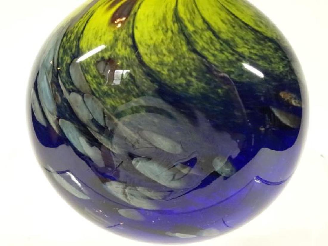 MTARFA MALTESE ART GLASS PERFUME BOTTLE WITH STOPPER, - 3