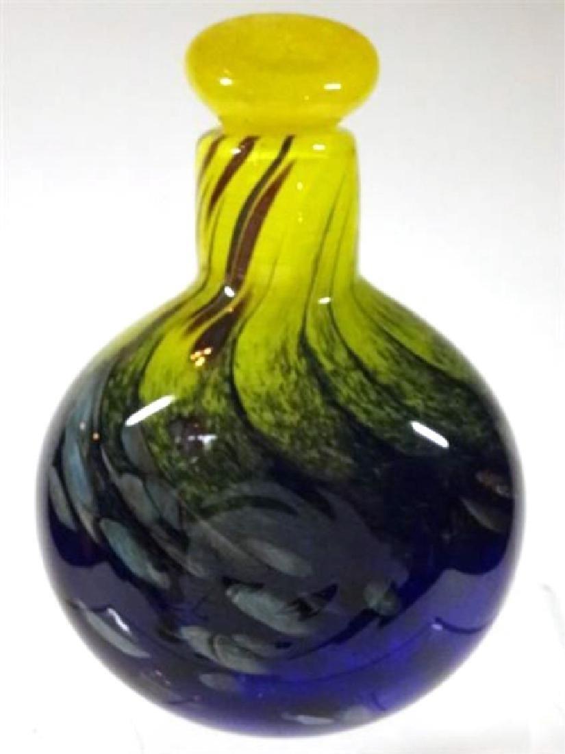 MTARFA MALTESE ART GLASS PERFUME BOTTLE WITH STOPPER, - 4