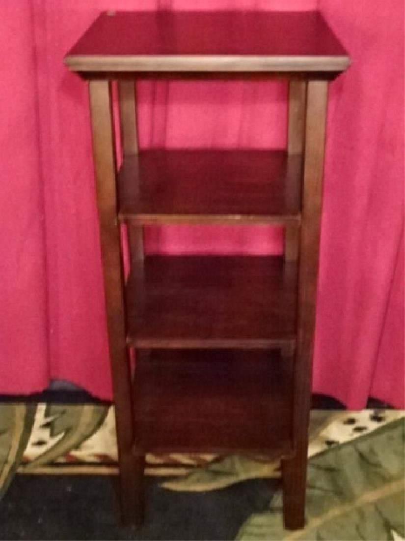 WOOD ETAGERE / BOOKCASE, DARK FINISH, VERY GOOD - 2