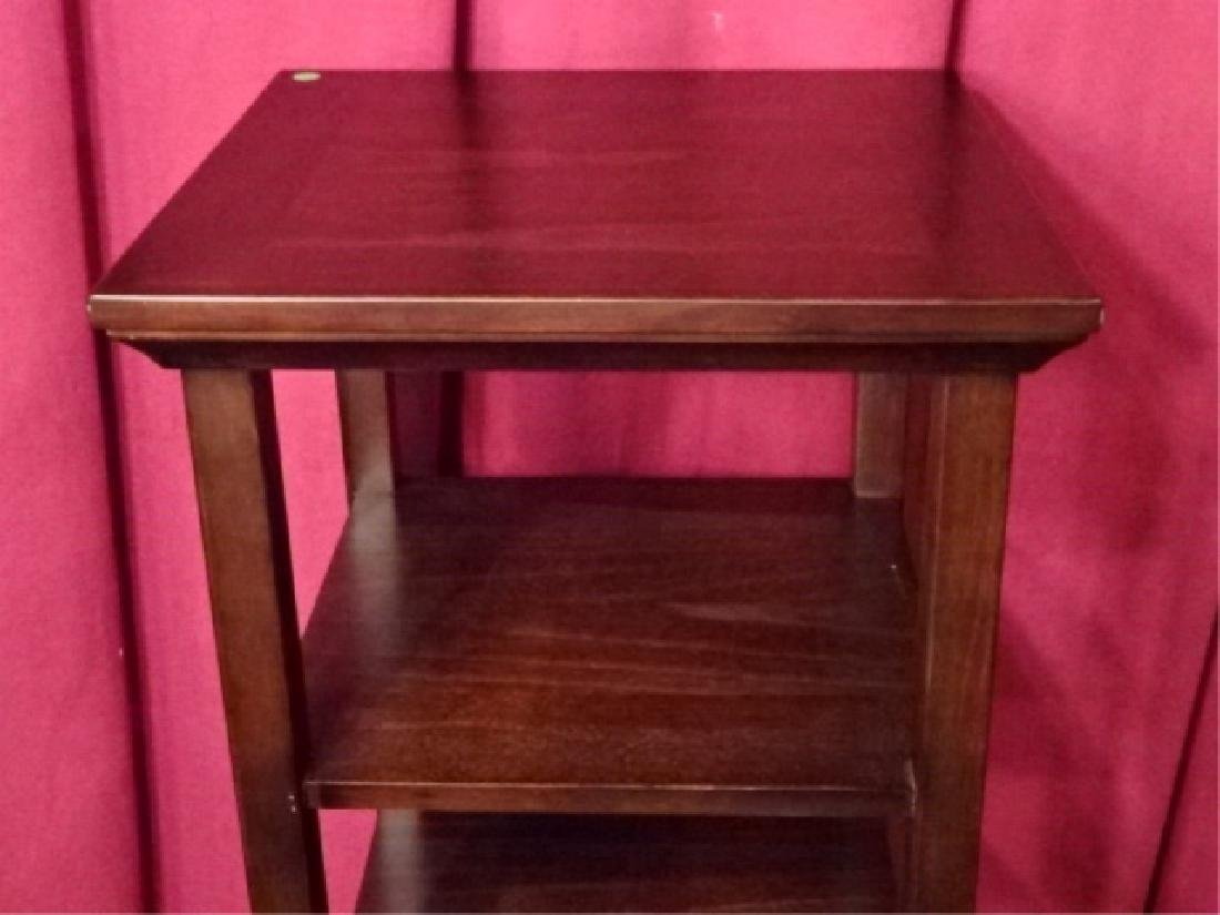 WOOD ETAGERE / BOOKCASE, DARK FINISH, VERY GOOD - 3