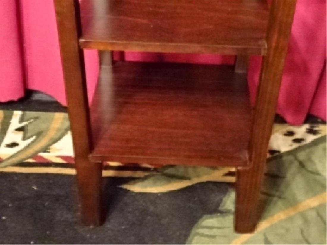 WOOD ETAGERE / BOOKCASE, DARK FINISH, VERY GOOD - 4