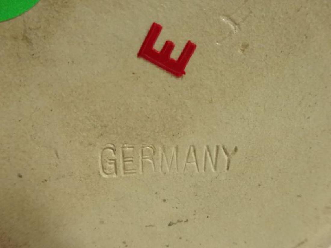 GERMAN CERAMIC BEER STEIN WITH LID, PAINTED FIGURAL - 5