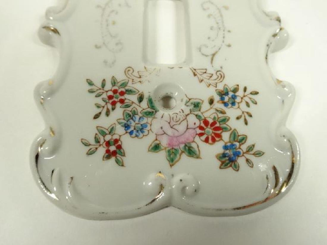PORCELAIN SWITCH PLATE WITH PAINTED FLORALS, WITH - 2