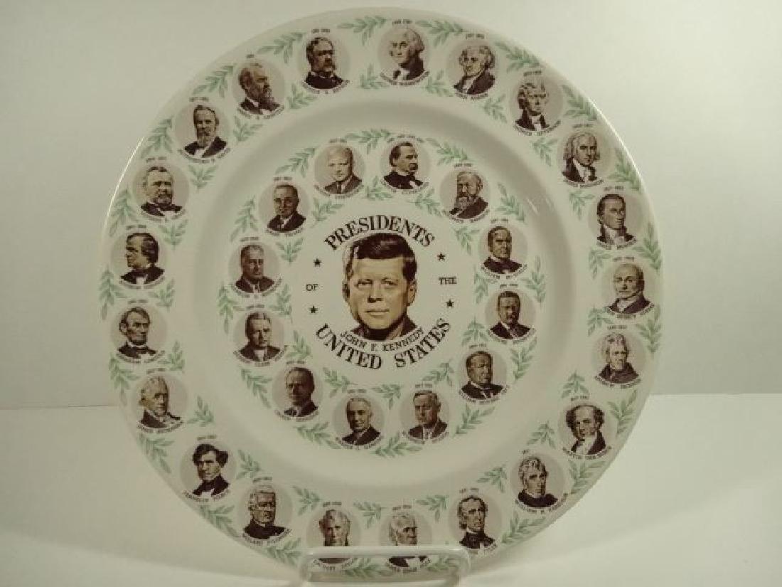 AMERICAN PRESIDENTIAL PORCELAIN PLATE, JOHN F KENNEDY
