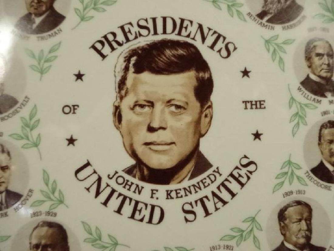 AMERICAN PRESIDENTIAL PORCELAIN PLATE, JOHN F KENNEDY - 2