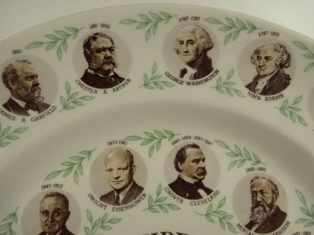 AMERICAN PRESIDENTIAL PORCELAIN PLATE, JOHN F KENNEDY - 3