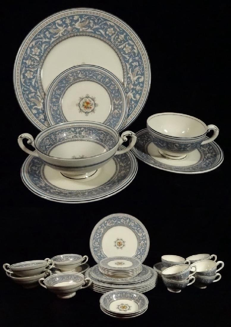 42 PC MYOTT CHINA, MEDICI, MADE IN ENGLAND, INCLUDES 6