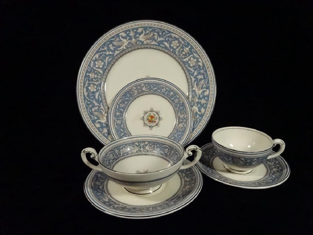 42 PC MYOTT CHINA, MEDICI, MADE IN ENGLAND, INCLUDES 6 - 2