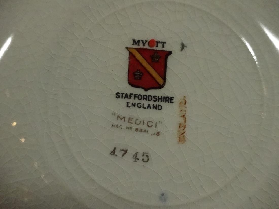 42 PC MYOTT CHINA, MEDICI, MADE IN ENGLAND, INCLUDES 6 - 6