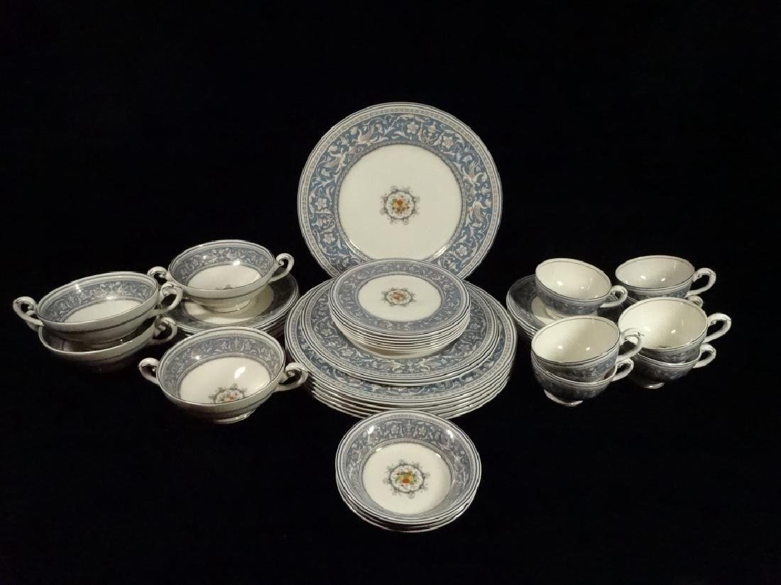 42 PC MYOTT CHINA, MEDICI, MADE IN ENGLAND, INCLUDES 6 - 8