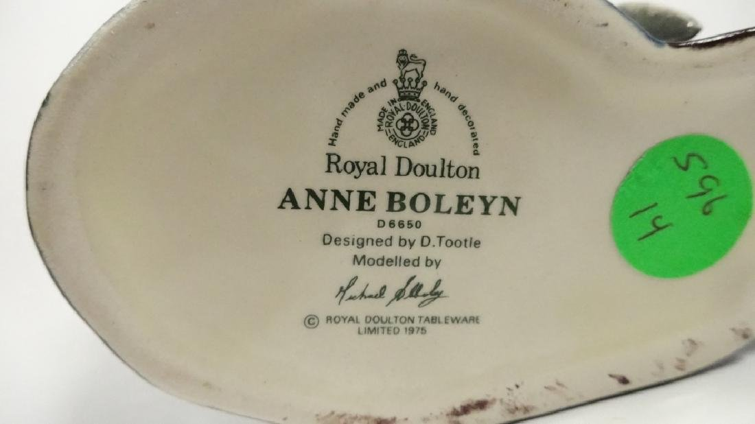 SMALL ROYAL DOULTON TOBY JUG, ANNE BOLEYN, LIMITED - 5