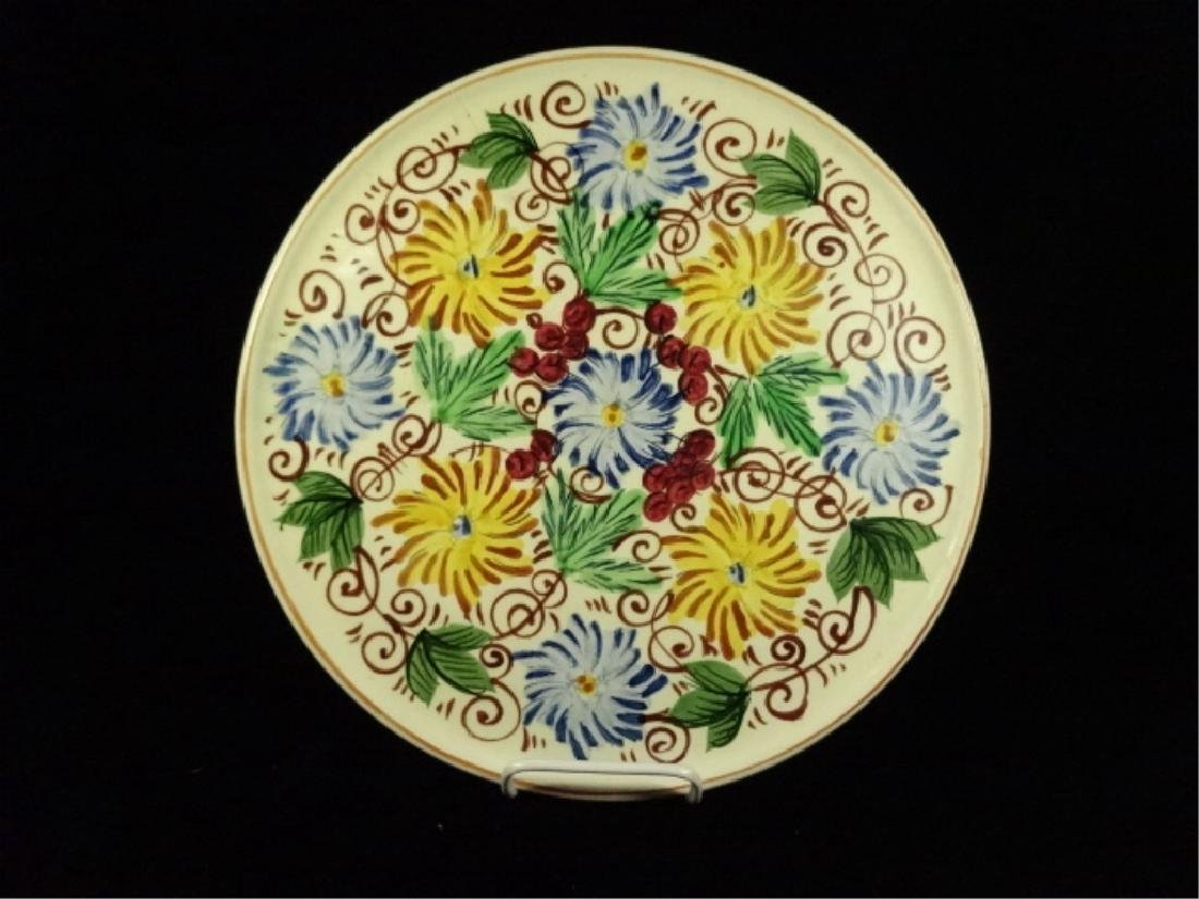PROVINCIAL WARE JAPAN PORCELAIN PLATE, WHITE WITH