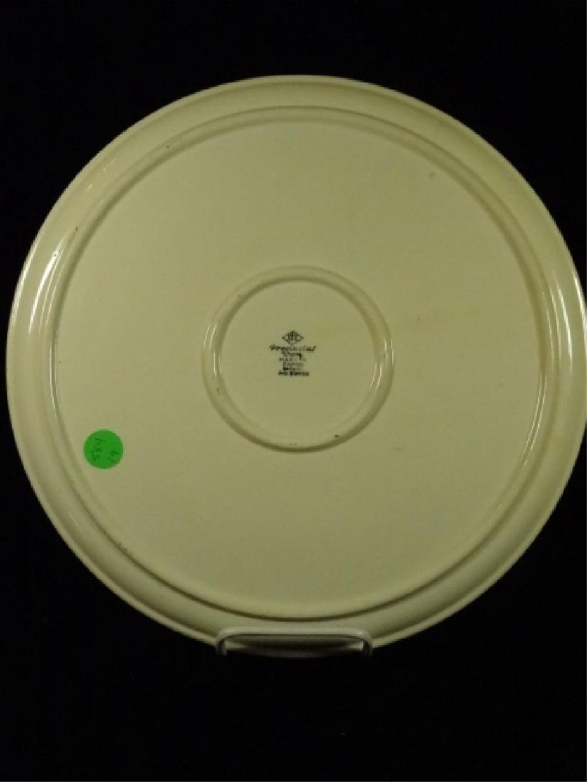 PROVINCIAL WARE JAPAN PORCELAIN PLATE, WHITE WITH - 3