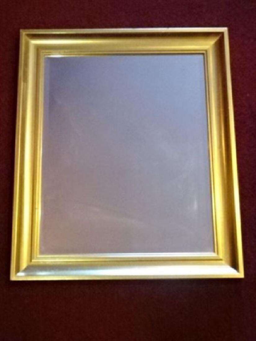 GOLD FRAME WALL MIRROR, GOOD LIGHTLY USED CONDITION,
