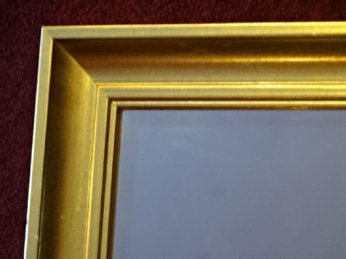 GOLD FRAME WALL MIRROR, GOOD LIGHTLY USED CONDITION, - 2
