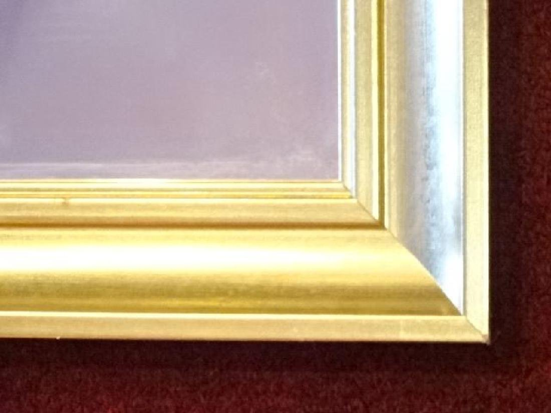 GOLD FRAME WALL MIRROR, GOOD LIGHTLY USED CONDITION, - 3