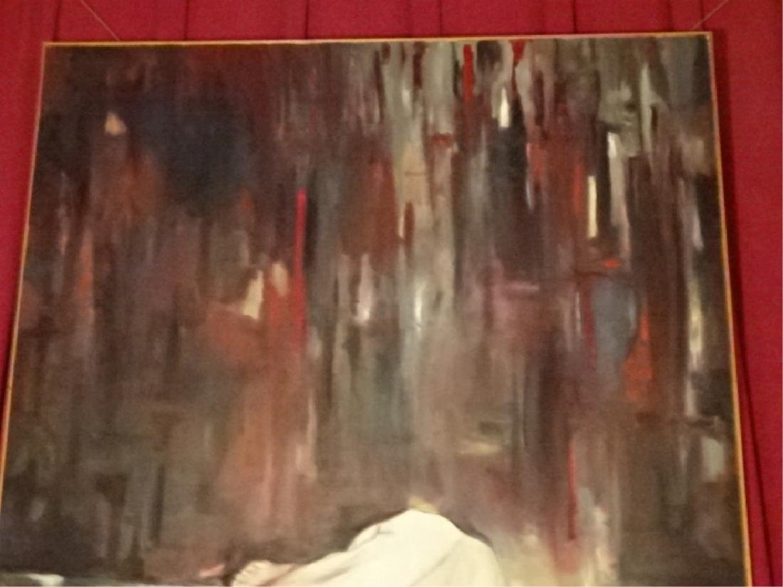 HUGE 7 FT OIL ON CANVAS EXPRESSIONIST PAINTING, NUDE - 4