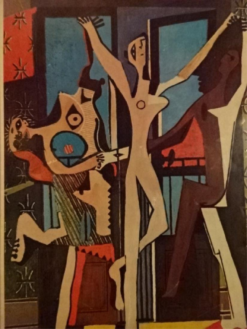 AFTER PABLO PICASSO PRINT, THREE DANCERS, FRAMED, - 2