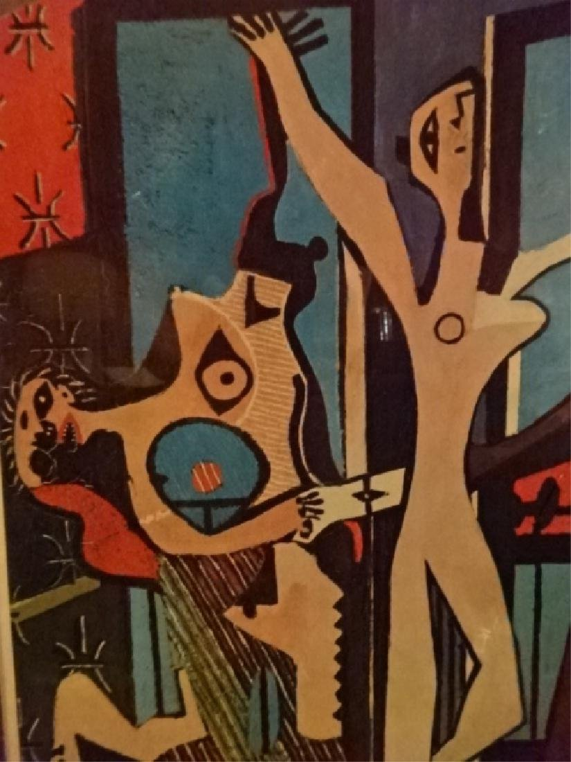 AFTER PABLO PICASSO PRINT, THREE DANCERS, FRAMED, - 3