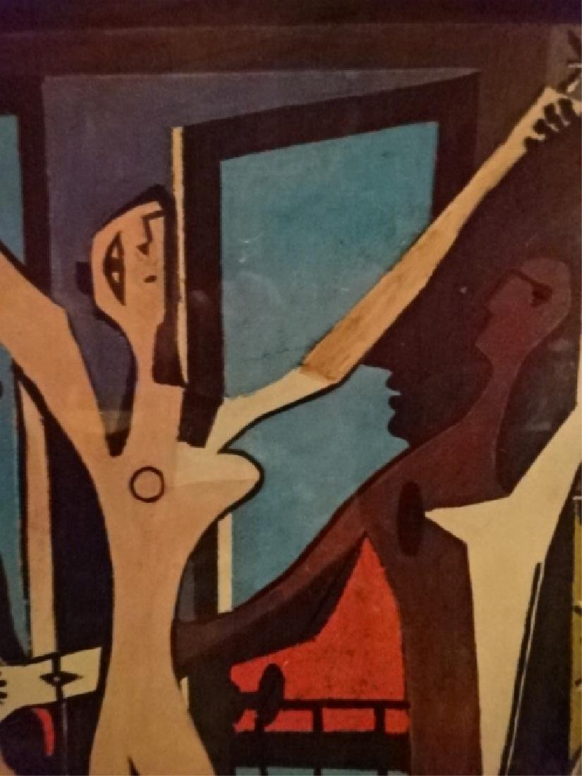 AFTER PABLO PICASSO PRINT, THREE DANCERS, FRAMED, - 4