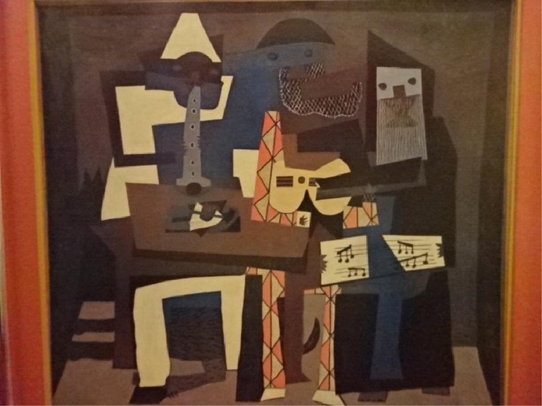 AFTER PABLO PICASSO PRINT, THREE MUSICIANS, ORIGINAL - 2