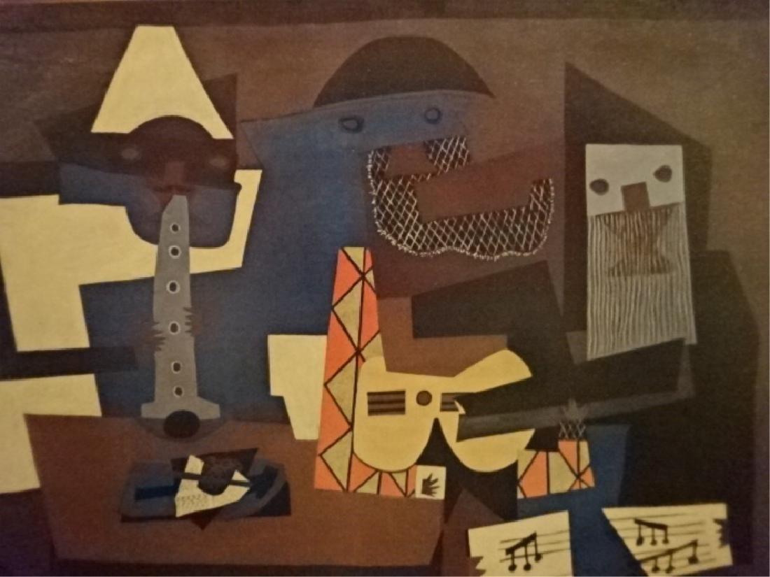 AFTER PABLO PICASSO PRINT, THREE MUSICIANS, ORIGINAL - 3